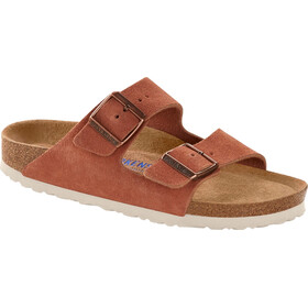 Birkenstock Arizona Soft Footbed Sandalias Cuero Ante Mujer, earth red